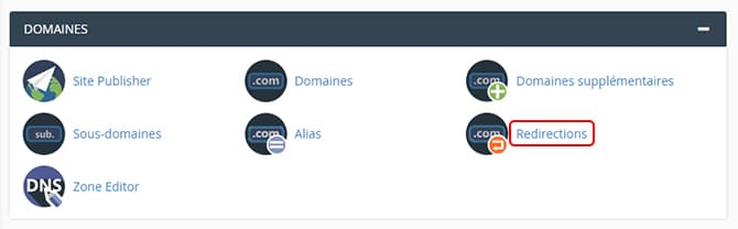 Redirection_cpanel
