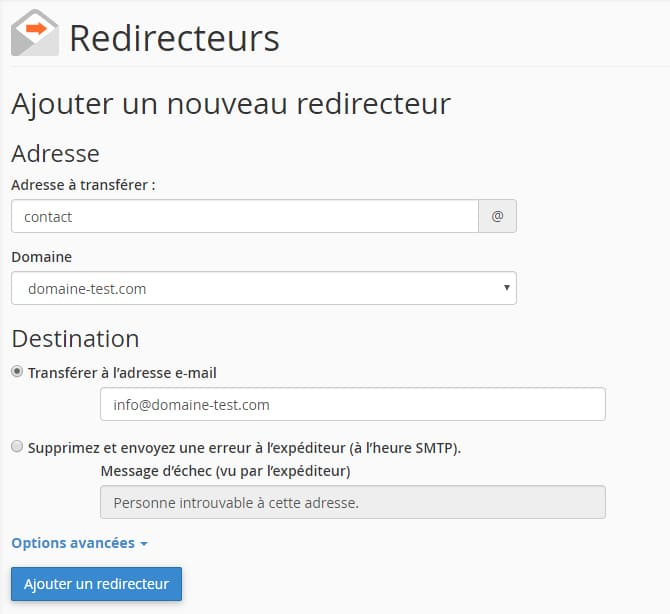 Redirection_email_cpanel