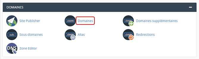 Domaine_cpanel