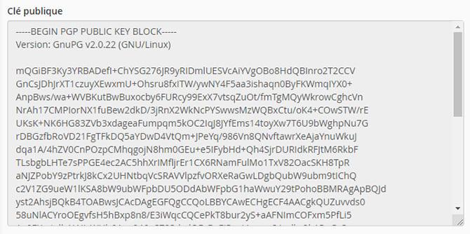 clé_cryptage_Cryptage_cpanel