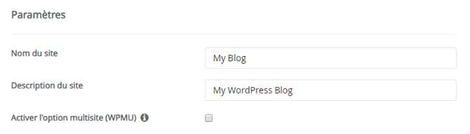 Paramètre_Wordpress_cpanel